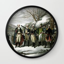 Washington and His Generals Wall Clock
