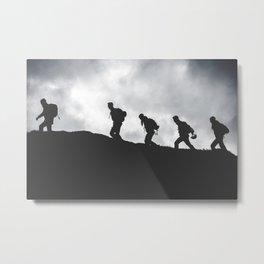 Streat walkers in the mountain Metal Print