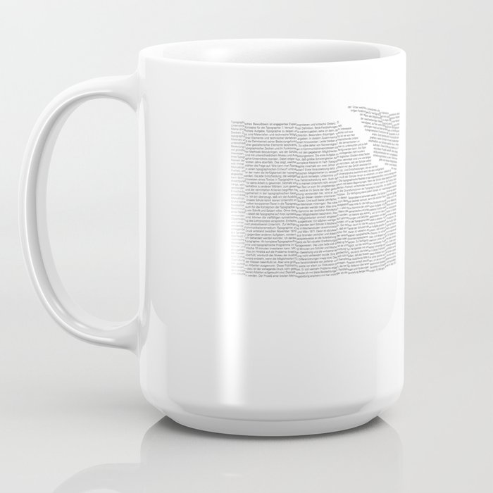 Erosion & Typography 2 Coffee Mug