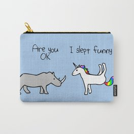 I Slept Funny (Rhino and Unicorn) Carry-All Pouch