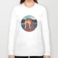 walrus Long Sleeve T-shirts featuring Walrus by Diana Hope