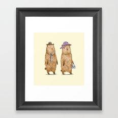 Bear Couple Framed Art Print