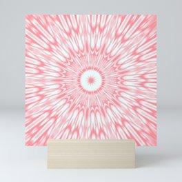 Salmon Pink Kaleidoscope Mini Art Print