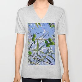 Olives in the sunshine Unisex V-Neck