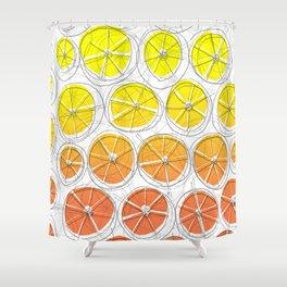 Red Lemonade Shower Curtain