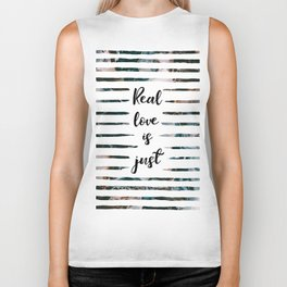 Real love is just 1 // Tara Biker Tank