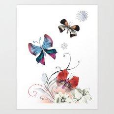 Butterfly Spring Art Print