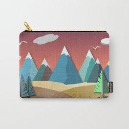 Mountain Landscape 2D Carry-All Pouch
