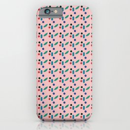 Modern geometric abstract flower pattern iPhone Case
