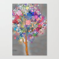 Canvas Prints featuring Floral abstract(56) by Mary Berg