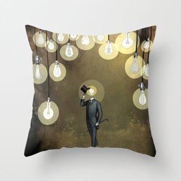Enlightened World Throw Pillow