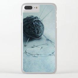 Let's knit a bit Clear iPhone Case