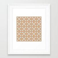 yellow pattern Framed Art Prints featuring Yellow Pattern by Caite Schultz