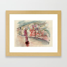Rome: the subway is a rolling museum Framed Art Print