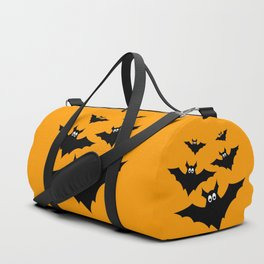 Cool cute Black Flying bats Halloween Duffle Bag