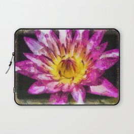 Purple Violet Lotus Flower Art Laptop Sleeve
