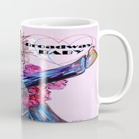 broadway Mugs featuring Broadway Baby by EloiseArt