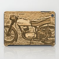 motorcycle iPad Cases featuring Jawa motorcycle by AhaC
