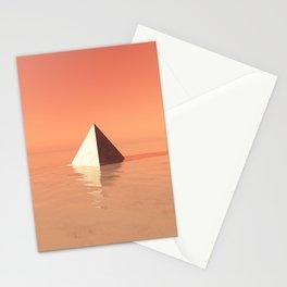 Monument Valley | Minimal Digital Art Stationery Cards