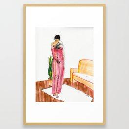 an evening / a chance Framed Art Print