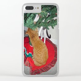 12 cats a-climbing Clear iPhone Case