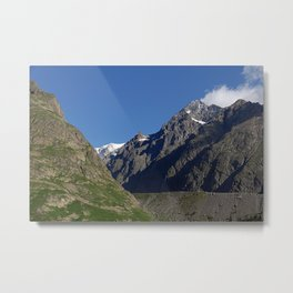Mountain Ridges Alps Alpine Landscape Metal Print