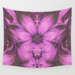 Pretty in Pink Fractal Flower Star-Shaped Petunias Wall Tapestry