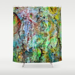 painted wall Shower Curtain