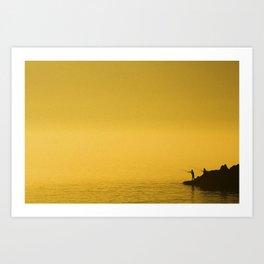 Paint Pêcheur sun yellow Art Print