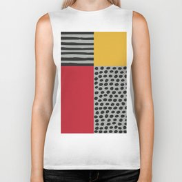 Earth Tone, Red Orange Pattern, Scandinavian Design Biker Tank