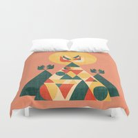 sunset Duvet Covers featuring Sunset Tipi by Picomodi