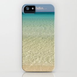 Crystal clear turquoise shaded waters of a sandy beach iPhone Case