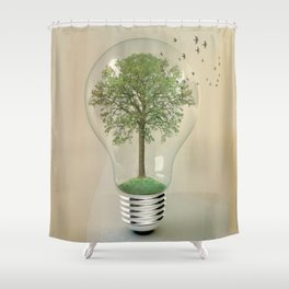 green ideas Shower Curtain