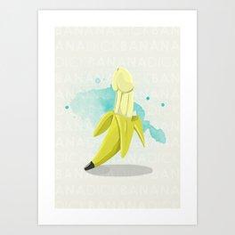 Banana Dick Art Print