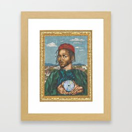 Portrait of a Rapper with the Album of the Year Framed Art Print