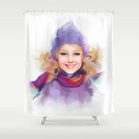 sport Shower Curtains featuring sport by tatiana-teni