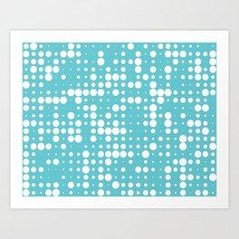 white polka dots Art Print