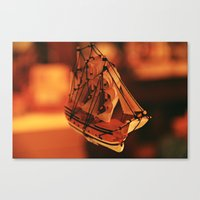 pirate ship Canvas Prints featuring Pirate Ship by Tasha Grabowski