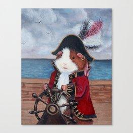 Broccoli Jones the Guinea Pig Pirate Canvas Print