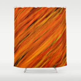 Rough Red Embers Abstract Shower Curtain