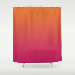 Pink Orange Red Gradient Pattern Shower Curtain