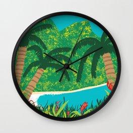 Tropical Island Getaway Wall Clock