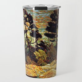 Tom Thomson - Summer Shore, Georgian Bay  - Canada, Canadian Oil Painting - Group of Seven Travel Mug