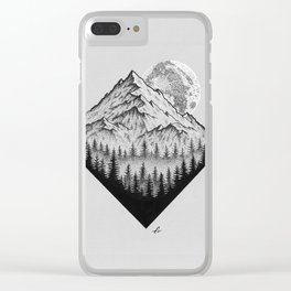 Mountain moonshine Clear iPhone Case