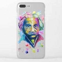 Splash of Einstein Clear iPhone Case