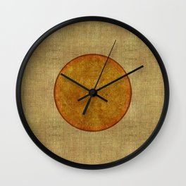 """Golden Circle Japanese Inspiration"" Wall Clock"