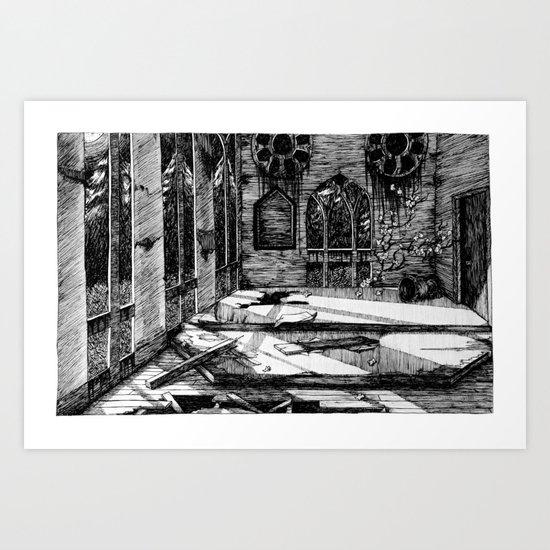 Moon Church Art Print