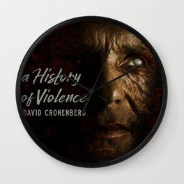 A History of Violence, David Cronenberg movie poster, Viggo Mortensen, Ed Harris Wall Clock