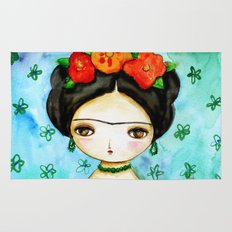 Frida And Her Tears Rug