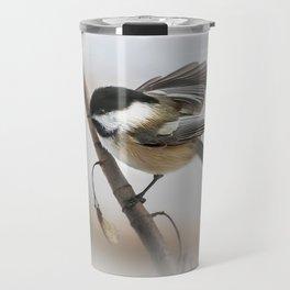 January Chickadee Travel Mug